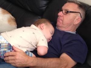 naps on grandpa