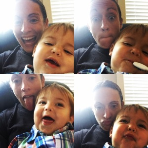 The many faces of mommy and Miles